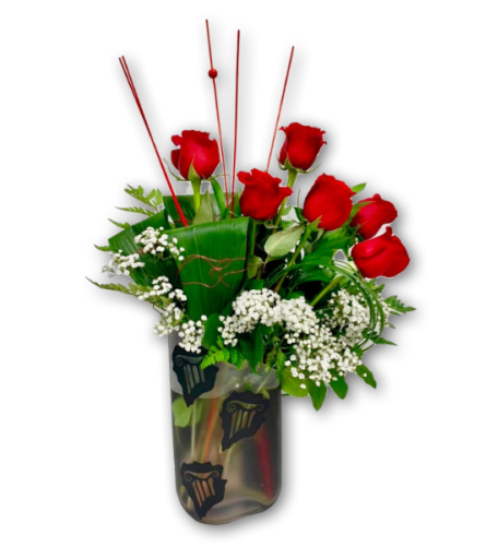 Scented Love Rose Arrangement in Premium Polish Vase