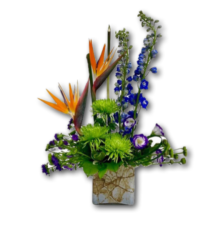 Joyful & Bright Birds of Paradise Floral Arrangement