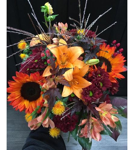 Fall Mixed Bouquet Orange