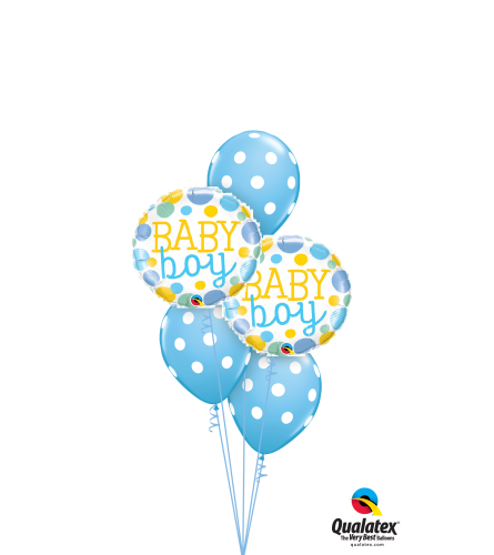 Baby Boy Dots Classic Balloon Bouquet