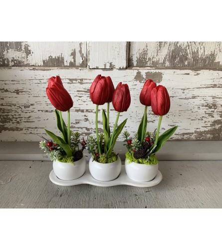 Trio Tulip Vase