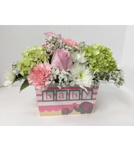 For The New Mom - Baby Girl Arrangement