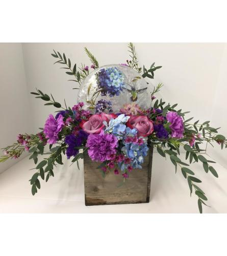 Hummingbird Floral Lamp Arrangement