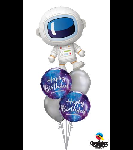 Outta-this-World Birthday Cheerful Balloon Bouquet