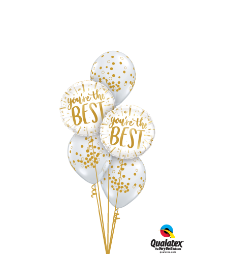 Good As Gold! Classic Confetti Balloon Bouquet