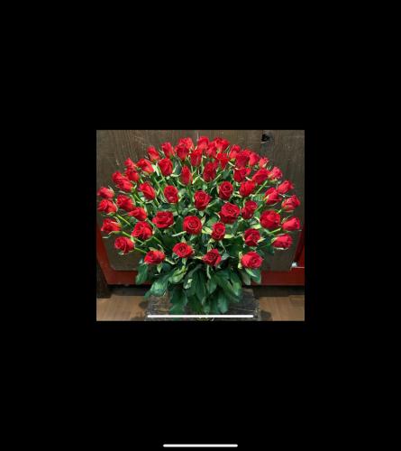 Large Red Rose Vase