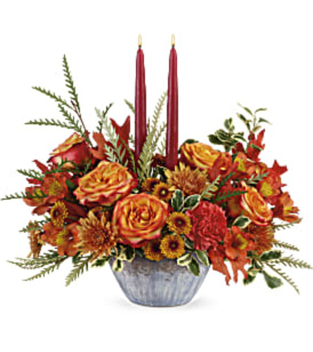Bountiful Blessings Two-Candle Centerpiece
