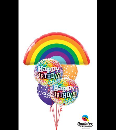 Over the Rainbow Birthday Cheerful Balloon Bouquet