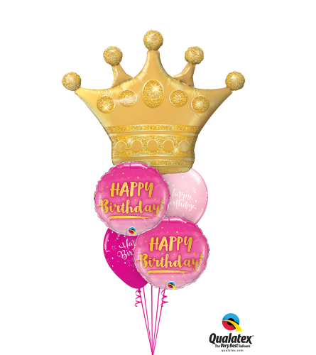 Birthday Crown Cheerful Balloon Bouquet