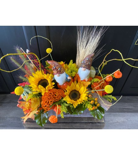 Fall Harvest Gnome Arrangement