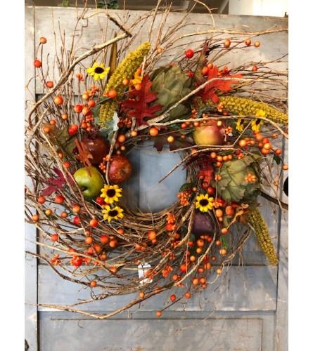 Twiggy Fall Silk Wreath