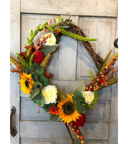 Square Fall Silk Wreath