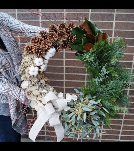 Designer Modern Winter Wreath