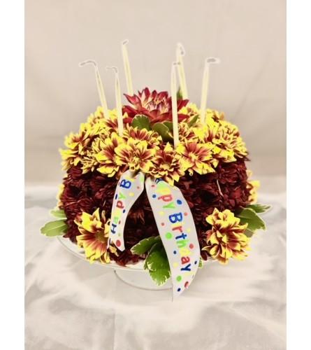 B-Day Bouquet Cake