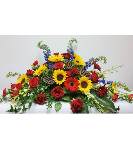Bountiful Blessings Casket Spray