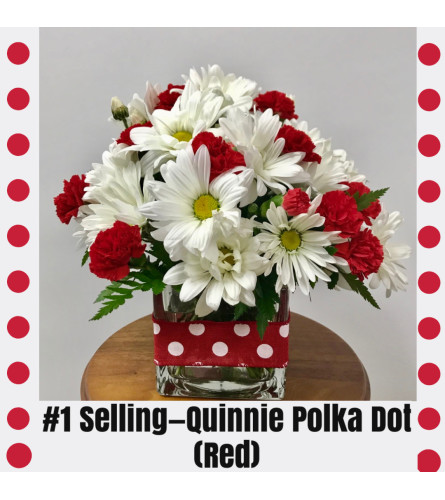 Quinnie Polka Dot-Red