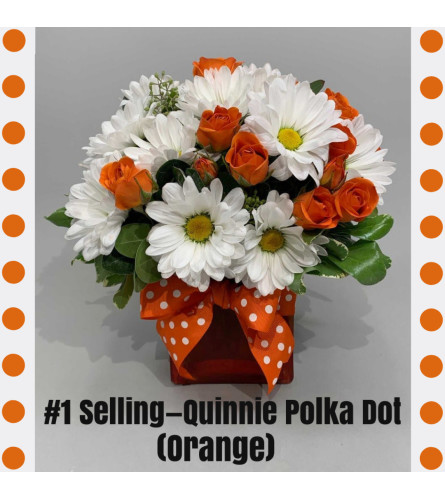 Quinnie Polka Dot-Orange