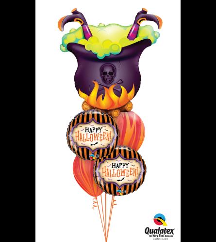 Crackling Cauldron Halloween Cheerful Balloon Bouquet