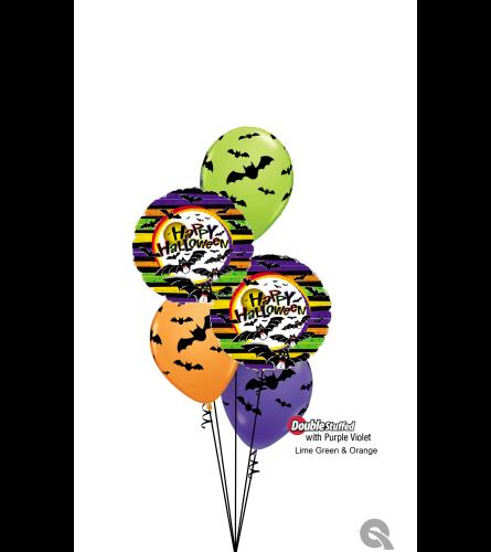 Batty for Halloween Classic Confetti Balloon Bouquet