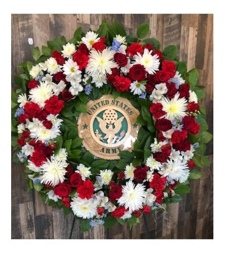 Army Honor Standing Wreath