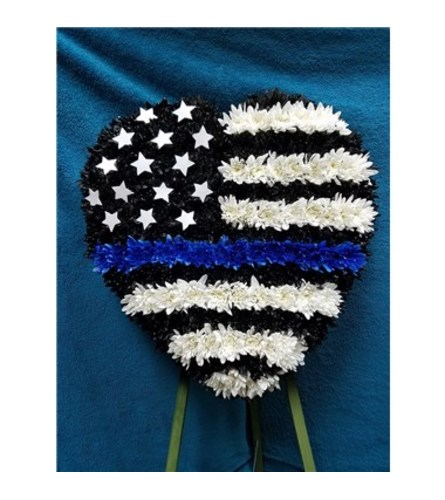 Police Officer Honor Standing Heart