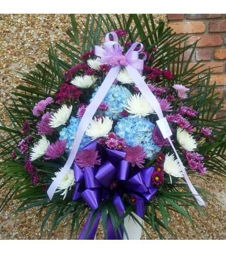 Standing Basket GF-13 Purple, blue & white