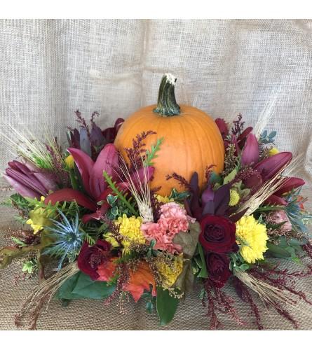 Fall centerpiece with Pumpkin!