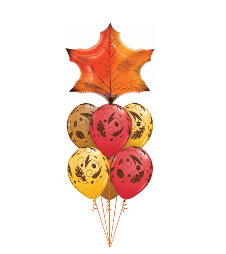 Autumn Leaves Awesome Balloon Bouquet