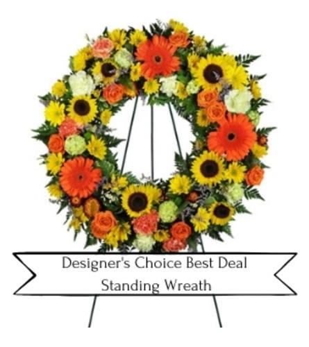 Designer's Choice Best Deal Standing Wreath