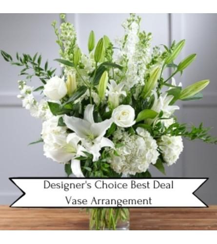 Designer's Choice Best Deal Sympathy Vase