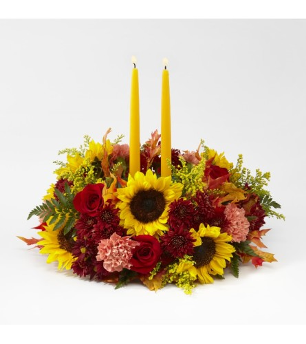 FTD's Giving Thanks Candle Centerpiece by TCG