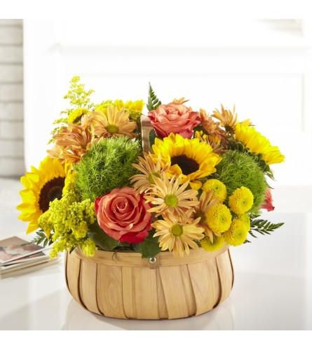 FTD's Harvest Sunflower Basket
