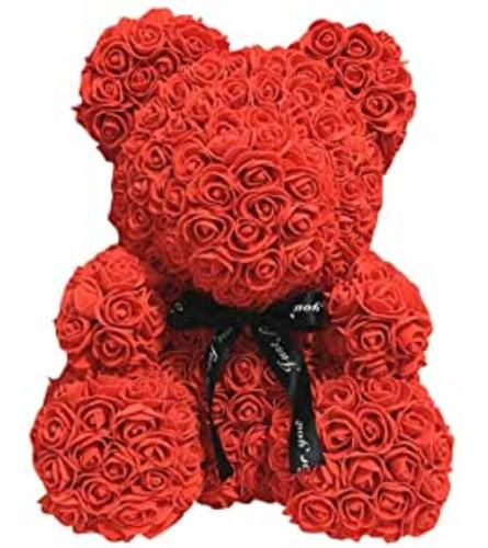 RED FOAM ROSE BEAR