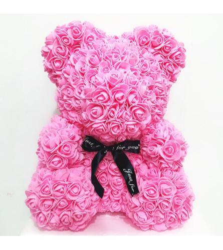 PINK FOAM ROSE BEAR