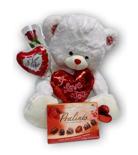 Smooches Teddy Bear with Chocolate