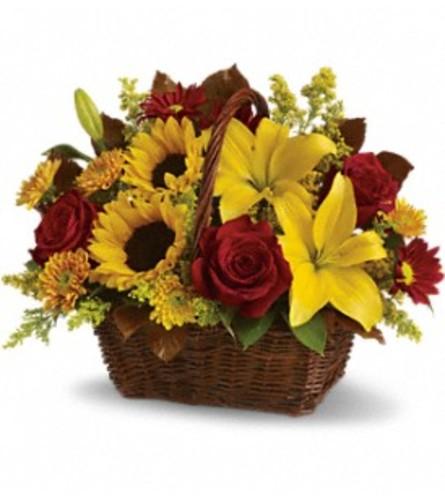 Sunny Golden Days Basket