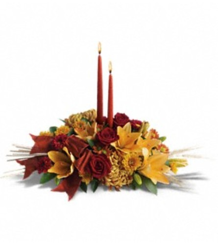 Red & Yellow Graceful Glow Centerpiece