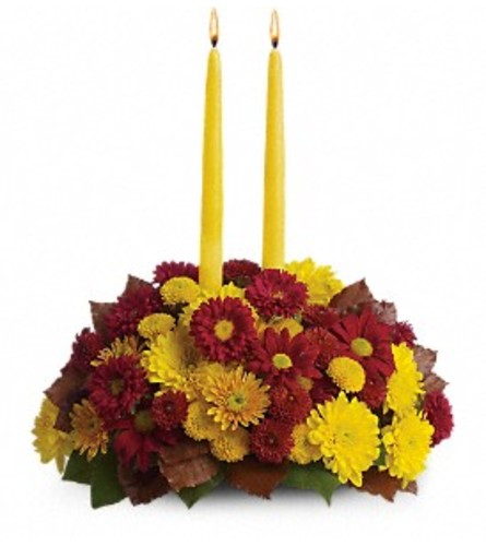 Red & Yellow Harvest Happiness Centerpiece