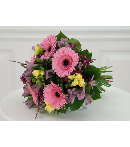 Girlie Favorites Euro Handtied Bouquet