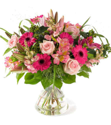 Perfectly Pink Euro Handtied Bouquet