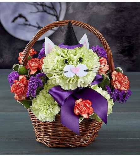 Purrfect Potions Bouquet Basket