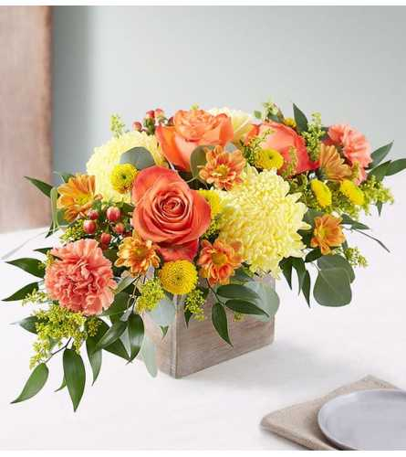 Seasonal Rustic Sunset Centerpiece