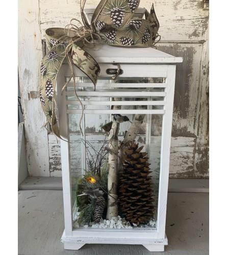 Birch Wood Lantern