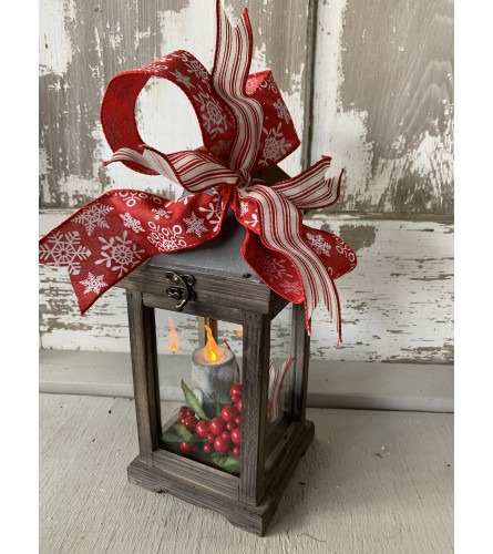 Holly Berry Lantern