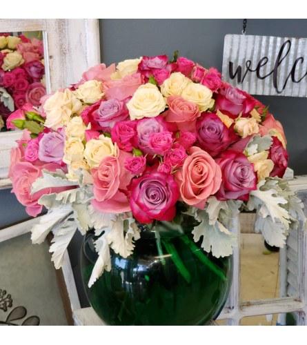 All tender roses
