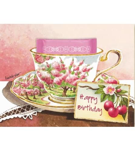 Cherry Blossom Tea  Greeting Card