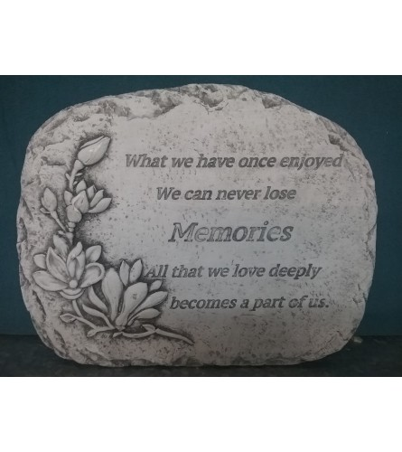Memories Become Part Of Us Stepping Stone