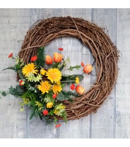 Beautiful Fall Wreath Silk