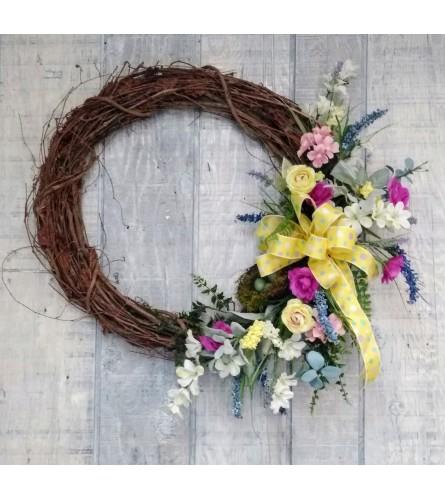 Spring in Paris Silk Wreath