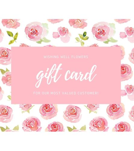 Wishing Well Flowers Gift Card